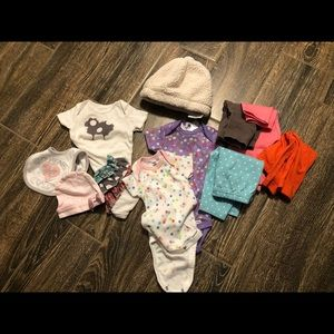 Lot of 0-3 month baby items